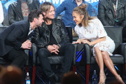 """(L-R) Host Ryan Seacrest, Judge Keith Urban and Judge Jennifer Lopez speaks onstage during the """"American Idol"""" panel discussion at the FOX portion of the 2015 Winter TCA Tour at the Langham Huntington Hotel on January 15, 2016 in Pasadena, California"""