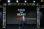 Executive Producer/Writer Clyde Phillips speaks onstage during Feed the Beast panel as part of the AMC Networks portion of This is Cable 2016 Television Critics Association Winter Tour at Langham Hotel on January 8, 2016 in Pasadena, California.