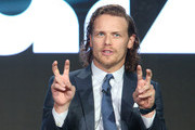Actor Sam Heughan speaks onstage during the Outlander panel as part of the Starz portion of This is Cable 2016 Television Critics Association Winter Tour at Langham Hotel on January 8, 2016 in Pasadena, California.