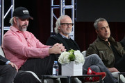 (L-R)  Henrik Bastin, Pieter Jan Brugge and Titus Welliver speak onstage during the Bosch panel as part of the Amazon portion of the 2016 Television Critics Association Winter Tour at Langham Hotel on January 11, 2016 in Pasadena, California.