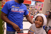 Raymond Felton #2 of the Oklahoma City Thunder along with teammates and coaches shop for the holidays with families from the Sunbeam Family Services Grandparents Raising Grandchildren program on December 4, 2017 at Target in conjunction with the Holiday Assist Initiative sponsored by Cox Communications in Oklahoma City, Oklahoma. This is the teams ninth annual holiday shopping spree. NOTE TO USER: User expressly acknowledges and agrees that, by downloading and or using this Photograph, user is consenting to the terms and conditions of the Getty Images License Agreement. Mandatory Copyright Notice: Copyright 2017 NBAE