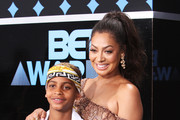 Kiyan Carmelo Anthony (L) and La La Anthony at the 2017 BET Awards at Microsoft Square on June 25, 2017 in Los Angeles, California.