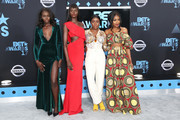 (L-R) Nikki Perkins, Duckie Thot, Sandra Lambeck, and Jennie Jenkins at the 2017 BET Awards at Microsoft Square on June 25, 2017 in Los Angeles, California.