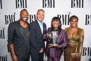 BMI Executive Director, Writer/Publisher Relations Wardell Malloy, BMI President and CEO Mike O'Neill, BMI Icon Recipient Patti Labelle, BMI Vice President, Writer/Publisher Relations Catherine Brewton attend the 2017 BMI R&B/Hip-Hop Awards at Woodruff Arts Center on August 31, 2017 in Atlanta, Georgia.