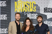 (L-R) Musicians Charles Kelley, Hillary Scott and Dave Haywood of Lady Antebellum attend the 2017 CMT Music Awards at the Music City Center on June 7, 2017 in Nashville, Tennessee.
