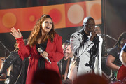 Hillary Scott of Lady Antebellum and Ralph Johnson of Earth, Wind & Fire perform onstage during the 2017 CMT Music Awards at the Music City Center on June 6, 2017 in Nashville, Tennessee.
