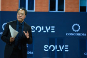 Cellist Yo-Yo Ma, Curator of the MIT Solve Arts and.Culture Mentorship Prize, speaks at The 2017 Concordia Annual Summit at Grand Hyatt New York on September 18, 2017 in New York City.