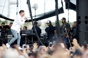 Louis Tomlinson performs onstage during the Daytime Village Presented by Capital One at the 2017 HeartRadio Music Festival at the Las Vegas Village on September 23, 2017 in Las Vegas, Nevada.