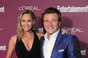 Kym Johnson (L) and Robert Herjavec attend the 2017 Entertainment Weekly Pre-Emmy Party at Sunset Tower on September 15, 2017 in West Hollywood, California.