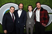 (L-R) Michael Stuhlbarg, Luca Guadagnino, Timothee Chalamet, and Armie Hammer attend the 2017 GQ Men of the Year party at Chateau Marmont on December 7, 2017 in Los Angeles, California.  (Photo by Michael Kovac/Getty Images for GQ) *** Local Caption *** Michael Stuhlbarg; Luca Guadagnino; Timothee Chalamet; Armie Hammer
