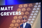 Matt Grevers holds the Golden Goggle award for Perseverance Award during the 2017 USA Swimming Golden Goggle Awards at J.W. Marriott at L.A. Live on November 19, 2017, in Los Angeles, California.