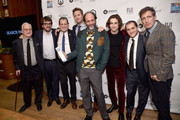 Actress Rachel Weisz, director Luca Guadagnino and the cast of Call Me by Your Name pose with the Best Feature Film award at The 2017 IFP Gotham Independent Film Awards co-sponsored by FIJI Water at Cipriani Wall Street on November 27, 2017 in New York City.
