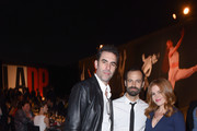 Sacha Baron Cohen, Benjamin Millepied and Isla Fisher attend the 2017 Los Angeles Dance Project Gala on October 7, 2017 in Los Angeles, California.