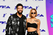 DeRay Davis (L)  attends the 2017 MTV Video Music Awards at The Forum on August 27, 2017 in Inglewood, California.