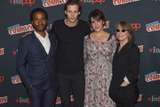 Andre Holland, Bill Skarsgard, Melanie Lynskey and Sissy Spacek attend Castle Rock Panel during the New York Comic Con 2017 on October 8, 2017 in New York City.