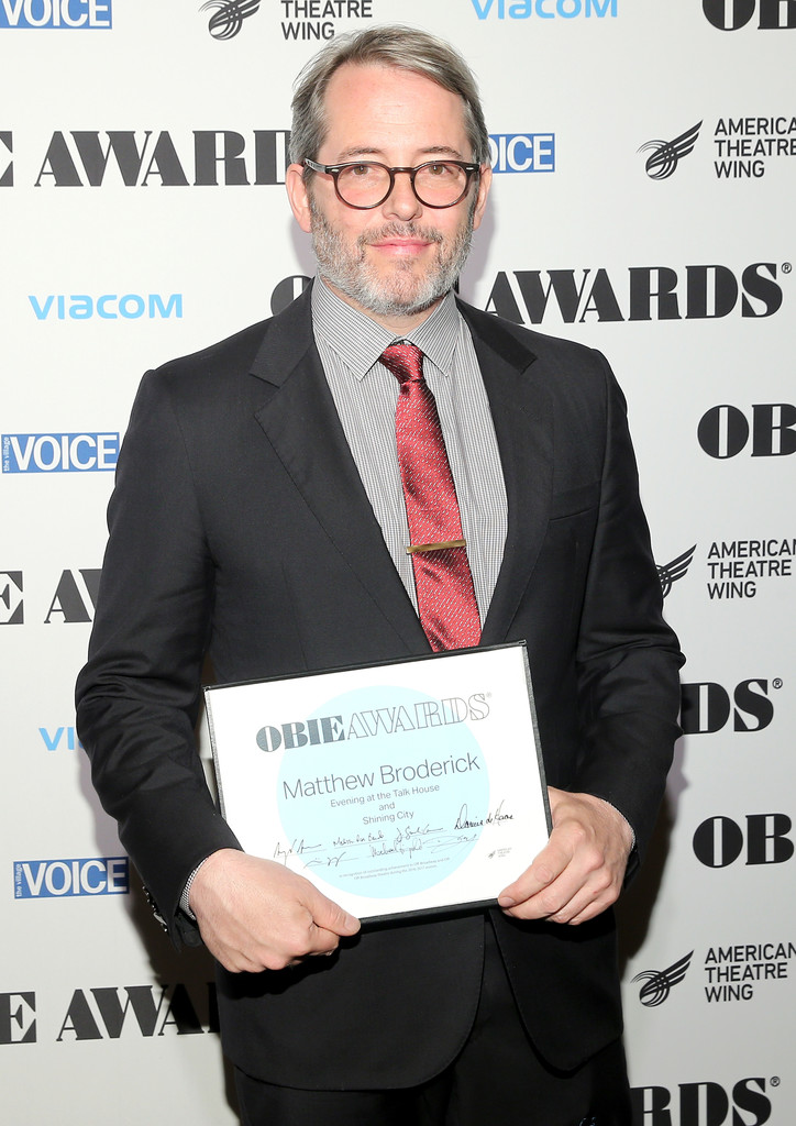 Matthew Broderick Photos Photos - 2017 Obie Awards ...