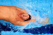 Matt Grevers competes in a Men's 100 LC Meter Backstroke heat race during the 2017 Phillips 66 National Championships & World Championship Trials at Indiana University Natatorium on June 30, 2017 in Indianapolis, Indiana.