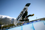 Danny Davis of the United States competes in the finals of the FIS Snowboard World Cup 2018 Men's Snowboard  Halfpipe during the Toyota U.S. Grand Prix on December 9, 2017 in Copper Mountain, Colorado.