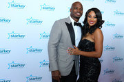 Adrian Peterson and Ashley Brown walk the red carpet at the 2017 Starkey Hearing Foundation So the World May Hear Awards Gala at the Saint Paul RiverCentre on July 16, 2017 in St. Paul, Minnesota.