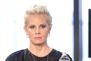 Actor Monica Potter of 'Wisdom of the Crowd' speaks onstage during the CBS portion of the 2017 Summer Television Critics Association Press Tour at CBS Studio Center on August 1, 2017 in Los Angeles, California.