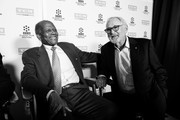 Image has been converted to black and white.)  Actor Sidney Poitier (L) and director Norman Jewison attend the 50th anniversary screening of 'In the Heat of the Night' during the 2017 TCM Classic Film Festival on April 6, 2017 in Los Angeles, California.