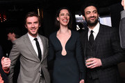 (L-R) Dan Stevens, Rebecca Hall and Morgan Spector attend the After Party for Permission Sponsored by Heineken during 2017 Tribeca Film Festival at Up&Down on April 22, 2017 in New York City.