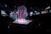 The 2017 Victoria's Secret models walk the runway as Jane Zhang performs during the 2017 Victoria's Secret Fashion Show In Shanghai at Mercedes-Benz Arena on November 20, 2017 in Shanghai, China.