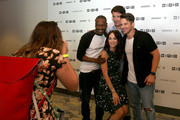 Actors Abigail Spencer, Malcolm Barrett, Goran Visnjic, and Matt Lanter of 'Timeless' at 2017 WIRED Cafe at Comic Con, presented by AT&T Audience Network on July 20, 2017 in San Diego, California.