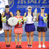 Yung-Jan Chan Photos - Winners Yung Jan Chan of Chinese Taipei and Martina Hingis of Switzerland with runners-up Shuko Aoyama of Japan and Zhaoxuan Yang of China pose with their trophies following the Ladies doubles final on day 7 of 2017 Dongfeng Motor Wuhan Open at Optics Valley International Tennis Center on September 30, 2017 in Wuhan, China. - 2017 Wuhan Open - Finals