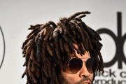 Lenny Kravitz poses in the press room during the 2018 American Music Awards at Microsoft Theater on October 9, 2018 in Los Angeles, California.