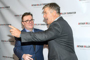 Nathan Lane and Alec Baldwin attend the 2018 Arthur Miller Foundation Honors at City Winery on October 22, 2018 in New York City.