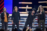 Sergio Vallin, Juan Calleros, Alex Gonzalez and Fher Olvera of Mana onstage at the 2018 Billboard Latin Music Awards at the Mandalay Bay Events Center on April 26, 2018 in Las Vegas, Nevada.