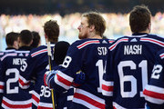 Marc Staal #18 of the New York Rangers looks on from the field before playing in the 2018 Bridgestone NHL Winter Classic between the New York Rangers and the Buffalo Sabres at Citi Field on January 1, 2018 in the Flushing neighborhood of the Queens borough of New York City.