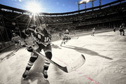 (EDITOR'S NOTE: Image has been digitally enhanced.) NEW YORK, NY - JANUARY 01: Marc Staal #18 of the New York Rangers skates into the corner during the 2018 Bridgestone NHL Winter Classic between the New York Rangers and the Buffalo Sabres at Citi Field on January 1, 2018 in the Flushing neighborhood of the Queens borough of New York City.