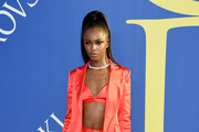 Leomie Anderson attends the 2018 CFDA Fashion Awards at Brooklyn Museum on June 4, 2018 in New York City.