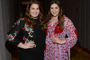 Rylee Scott(L) and Hillary Scott of Lady Antebellum take photos during the 2018 CMT Artists of The Year at Schermerhorn Symphony Center on October 17, 2018 in Nashville, Tennessee.