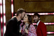 (L-R) Charles Kelley  Honoree Hillary Scott, and Dave Haywood of Lady Antebellum onstage during the 2018 CMT Artists of The Year at Schermerhorn Symphony Center on October 17, 2018 in Nashville, Tennessee.