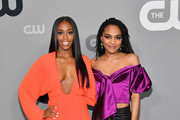 Nafessa Williams and China Anne McClain attend the 2018 CW Network Upfront at The London Hotel on May 17, 2018 in New York City.