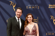 Alexis Denisof (L) and Alyson Hannigan attend the 2018 Creative Arts Emmy Awards at Microsoft Theater on September 8, 2018 in Los Angeles, California.
