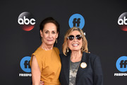 Laurie Metcalf and Roseanne Barr of Roseanne attend during 2018 Disney, ABC, Freeform Upfront at Tavern On The Green on May 15, 2018 in New York City.