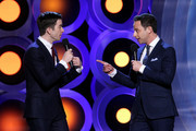 Hosts John Mulaney (L) and Nick Kroll speak onstage during the 2018 Film Independent Spirit Awards on March 3, 2018 in Santa Monica, California.