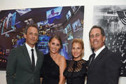 (L-R) Seth Meyers, Alexi Ashe, Jessica Seinfeld, and Jerry Seinfeld attend the 2018 GOOD+ Foundation?s Evening of Comedy + Music Benefit, presented by Samsung Electronics America at Carnegie Hall on September 12, 2018 in New York City.