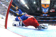 Brayden Schenn #10 of the St Louis Blues takes a shot on Henrik Lundqvist #30 of the New York Rangers during the GEICO NHL Save Streak during the 2018 GEICO NHL All-Star Skills Competition at Amalie Arena on January 27, 2018 in Tampa, Florida.