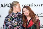 Iskra Lawrence (L) and Glamour Editor-in-Chief Samantha Barry attend the 2018 Glamour Women Of The Year Awards: Women Rise on November 12, 2018 in New York City.