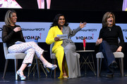 "(L-R) Savannah Guthrie, Mindy Kaling and Hoda Kotb speaks onstage during ""Closing The Dream Gap: Showing Girls (and Ourselves) What's Next"" panel at 2018 Glamour Women Of The Year Summit:  Women Rise at Spring Studios on November 11, 2018 in New York City."
