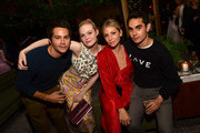 (L-R) Dylan O'Brien, Elle Fanning, Ari Graynor and Max Minghella attend 2018 HFPA and InStyle's TIFF Celebration at the Four Seasons Hotel on September 8, 2018 in Toronto, Canada.