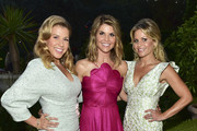 (L-R) Actors Jodi Sweetin, Lori Loughlin, and Candace Cameron-Bure pose for portrait at the 2018 Hallmark Channel Summer TCA at a private residence on July 26, 2018 in Beverly Hills, California.
