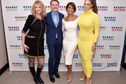 (L-R) Sandra Lee, Hearst Magazines President, Marketing and Publishing director Michael A. Clinton, Sade Baderinwa, and Ashley Graham attend the 2018 Hearst MagFront on October 17, 2018 in New York City.