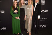 (L-R) Lily Collins, Clare Waight Keller, Rosie Huntington-Whiteley, and InStyle Magazine Editor in Chief Laura Brown attend the 2018 InStyle Awards at The Getty Center on October 22, 2018 in Los Angeles, California.