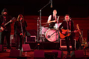 "Fernando Perdomo, Cat Power, and Jakob Dylan perform onstage during the 2018 LA Film Festival opening night premiere of ""Echo In The Canyon"" at John Anson Ford Amphitheatre on September 20, 2018 in Hollywood, California."